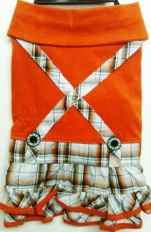 Рокля Orange Suspenders