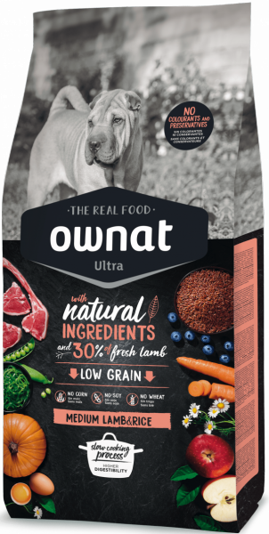 Ownat Ultra Medium Lamb & Rice 8 кг